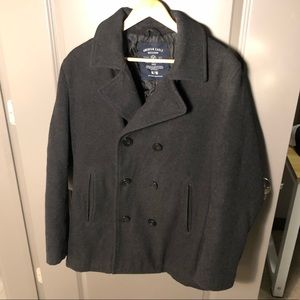 Like New American Eagle Men's Charcoal Peacoat!